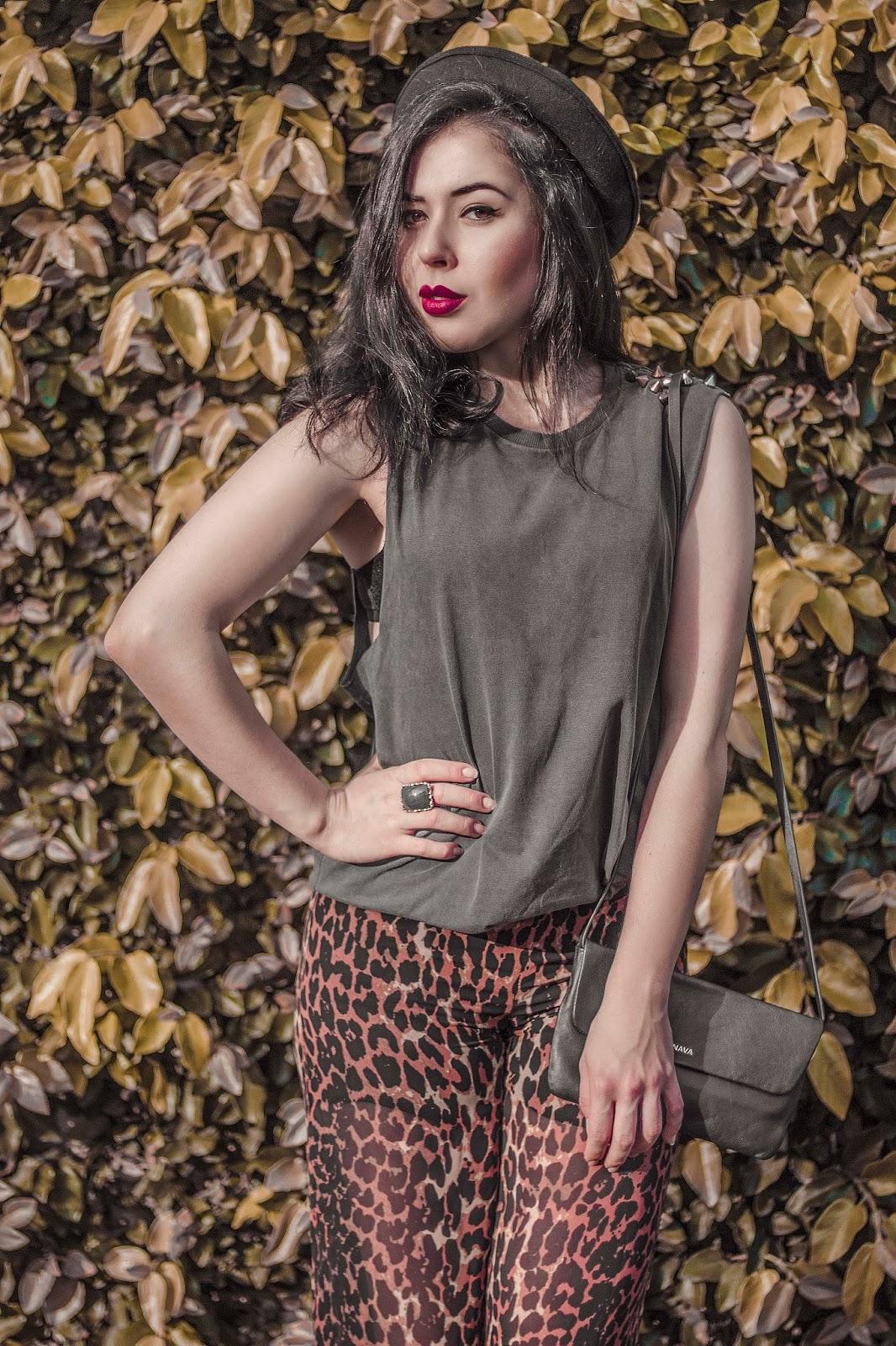 Gabriela Souza, Brazilian Fashion Blogger, influencer, outfit, animal print, brazilian connection,