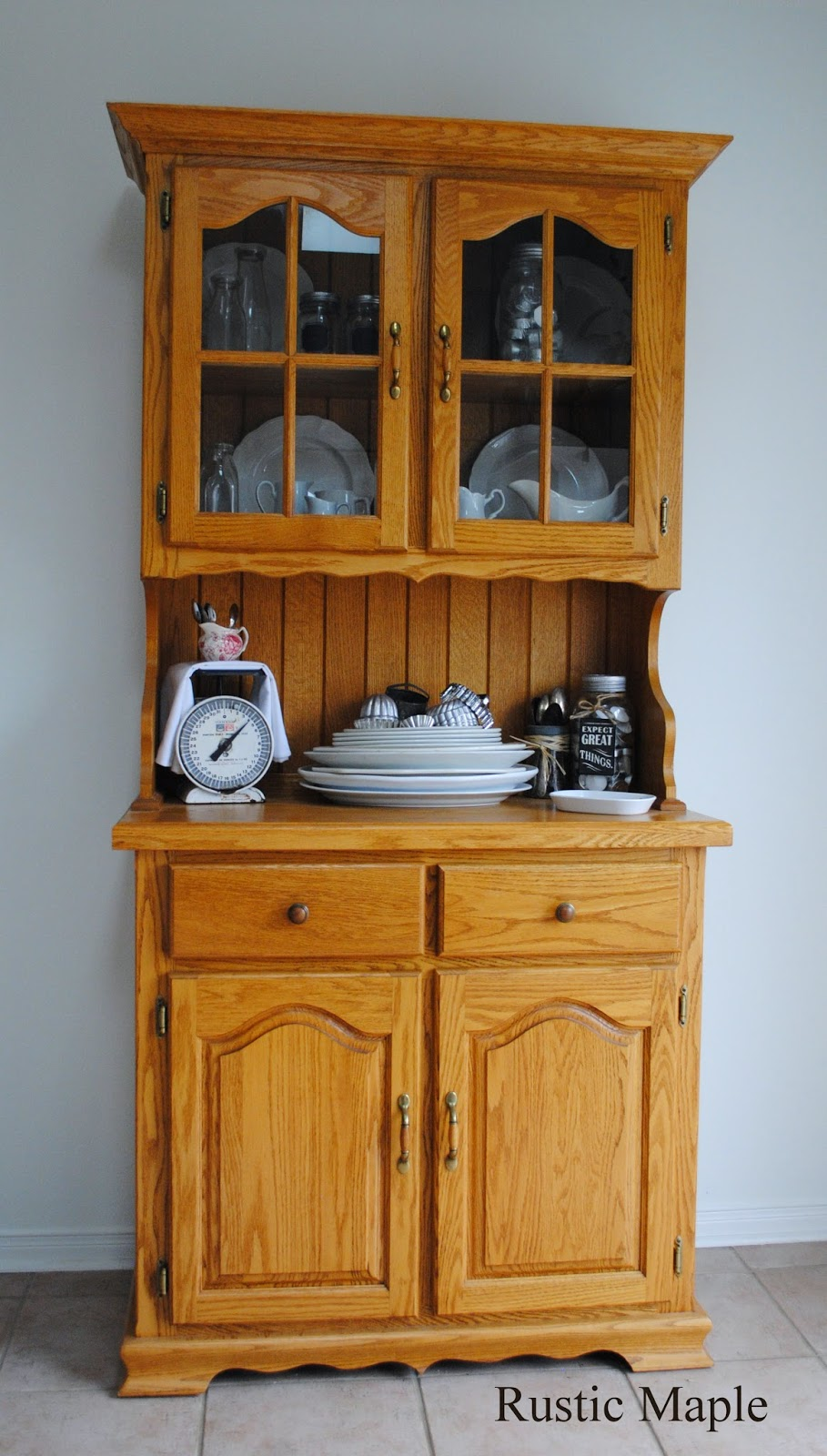 Rustic Maple: Oak Buffet and Hutch with Fusion Mineral Paint in ...