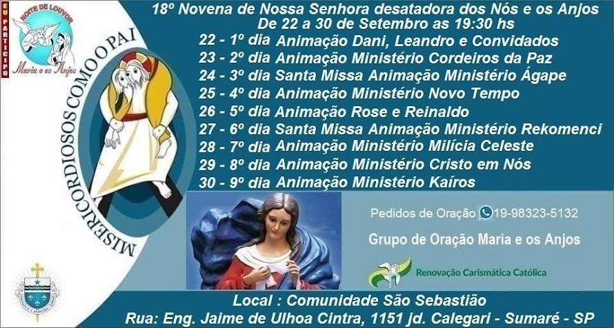 18º Novena de Nossa Senhora desatadora dos nós e os anjos.