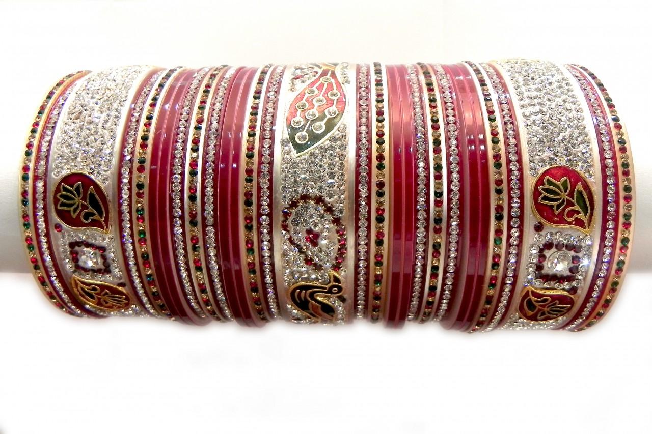 Indian Bride Evergreen Wedding Chura Design
