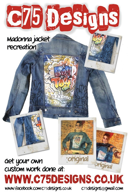 madonna graffiti jacket