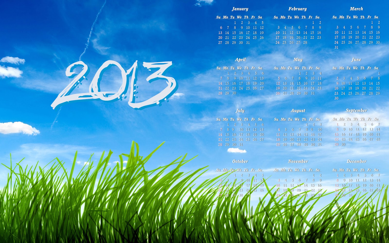 Calendar Computer Wallpaper : New year calendar