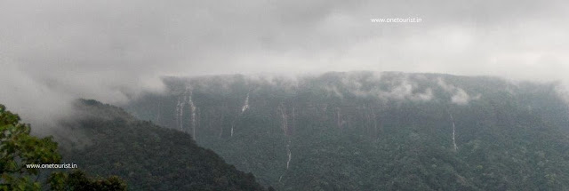 seven sister fall , meghalaya