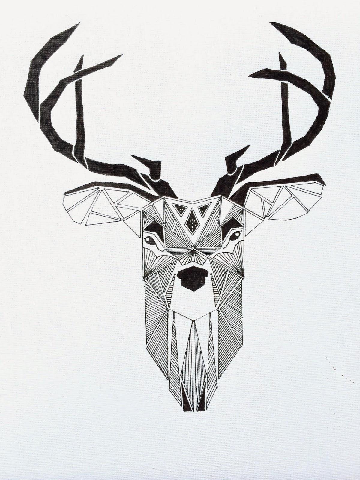 hjort tegning