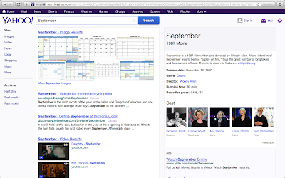 Yahoo Search for 'September'