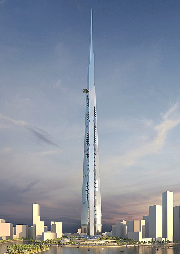 Photo of Kingdom Tower as seen from the ground