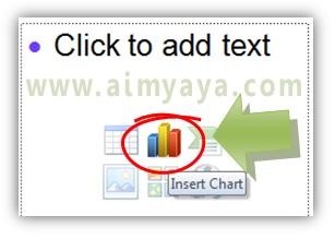 Gambar:  Cara memulai membuat grafik di powerpoint