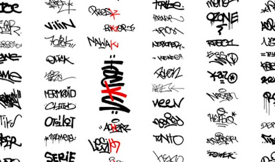 Set of Graffiti Tag Letters