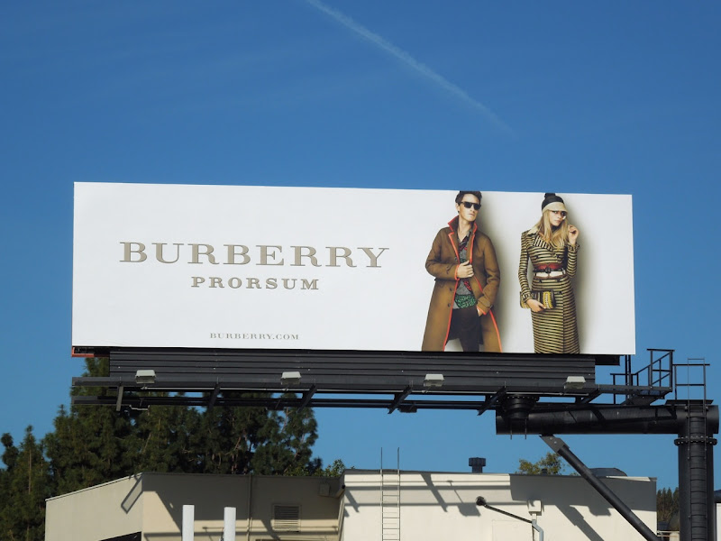 Burberry Spring 2012 Prorsum billboard