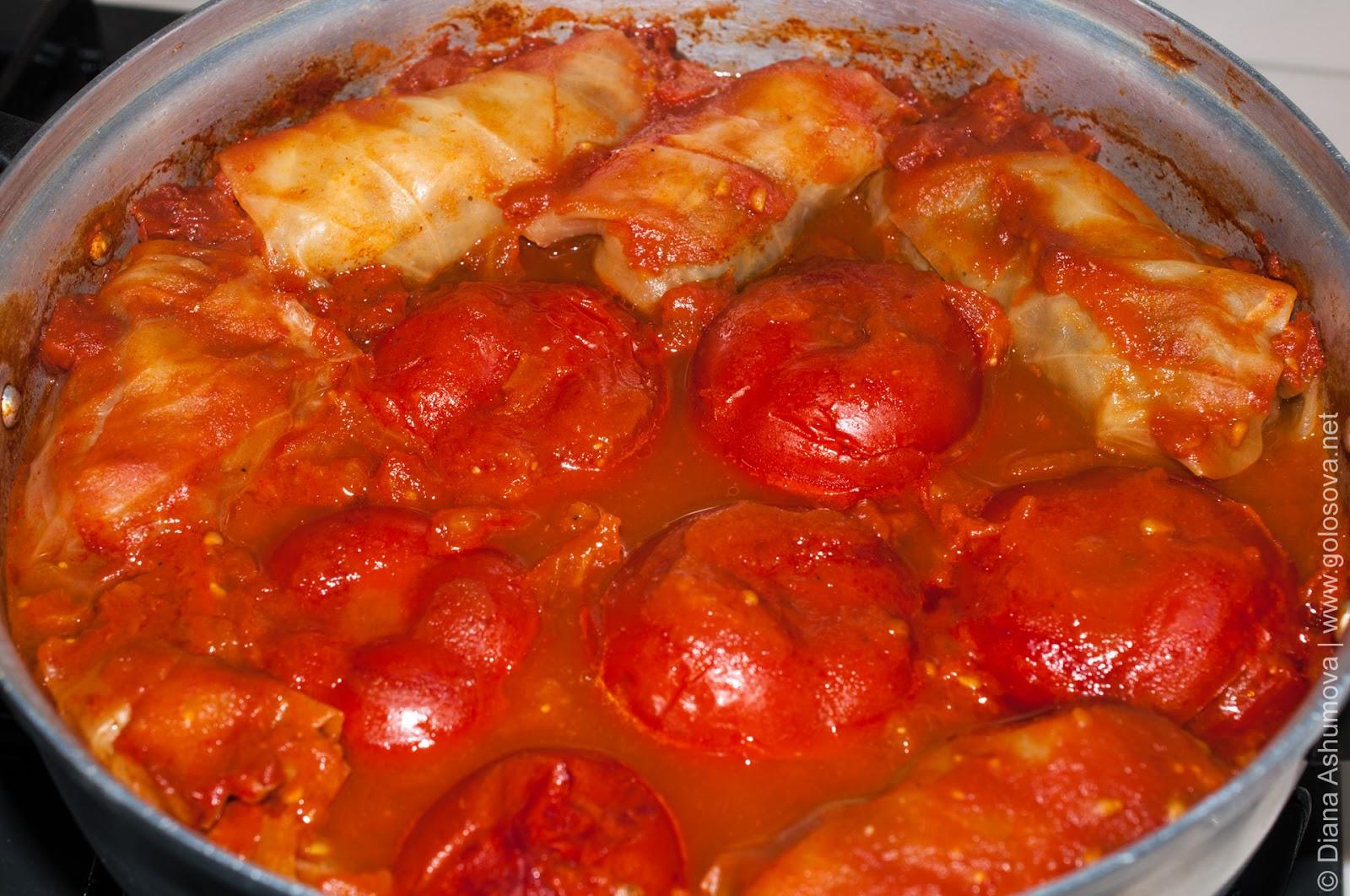Голубцы рецепт без томатной пасты рецепт