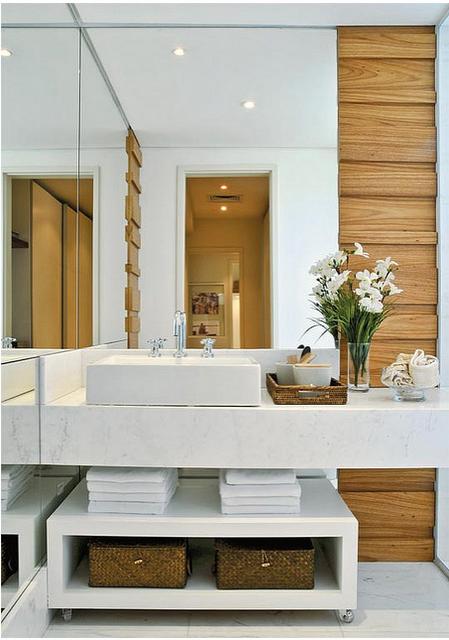 Tudo No Lugar  Organizando banheiro -> Banheiro Pequeno Arrumado
