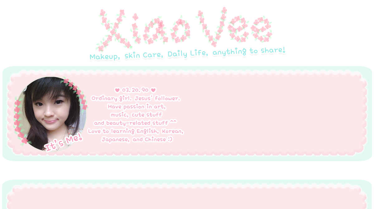 ✿‿ Xiao Vee 's World ‿✿