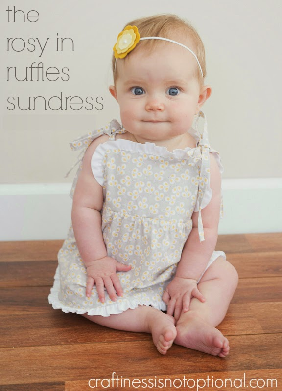 Simple ruffle dress tutorial