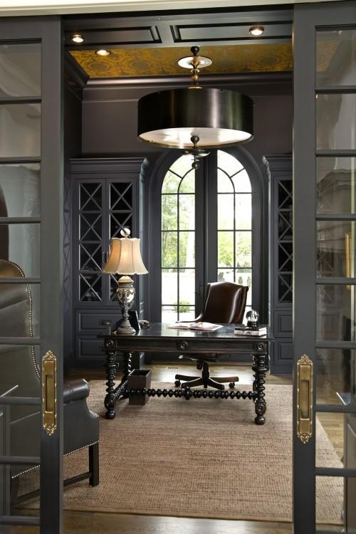 dark grey home office Preppy Grey.. | home design ideas