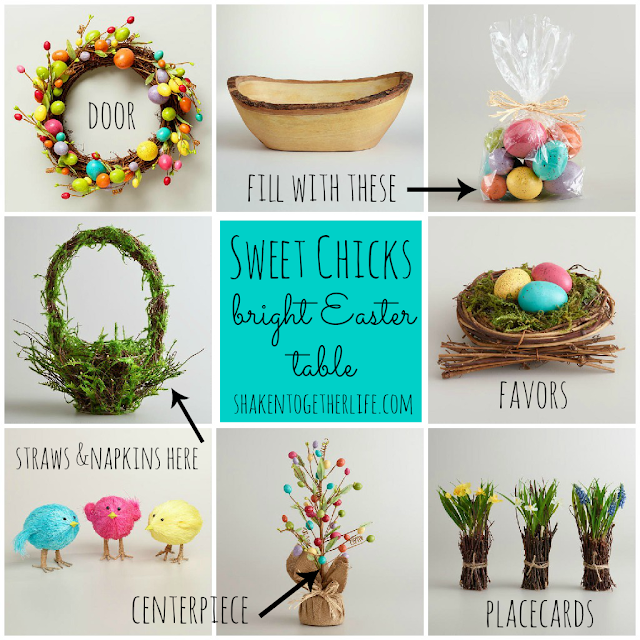 world+market+sweet+chicks+table+Collage 24 Carrot Teacher Gifts & Virtual Spring Party with World Market {a guest post}