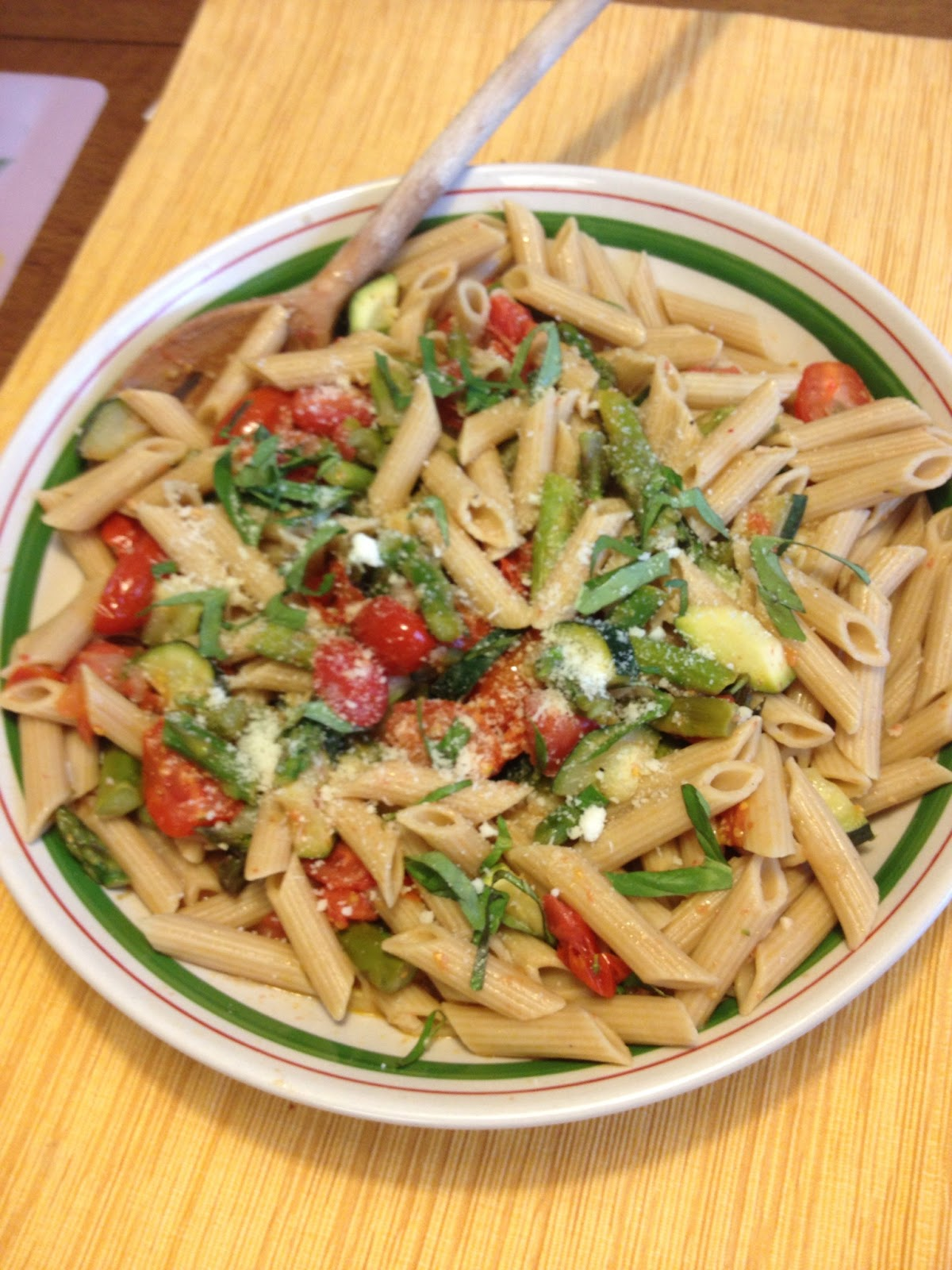 Self Soul Space: Penne with Spring Vegetables