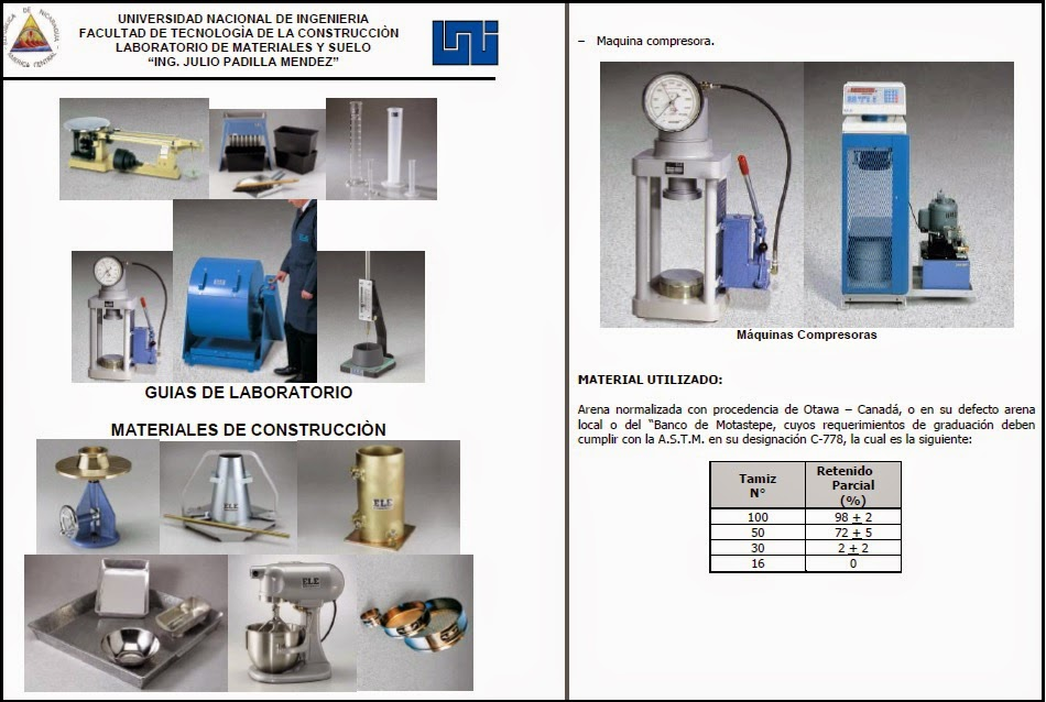 laboratorio materiales de construccion