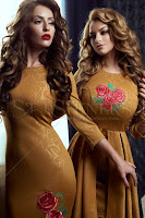 Rochie StarShinerS Brodata Rose Blossom Gold (StarShinerS)