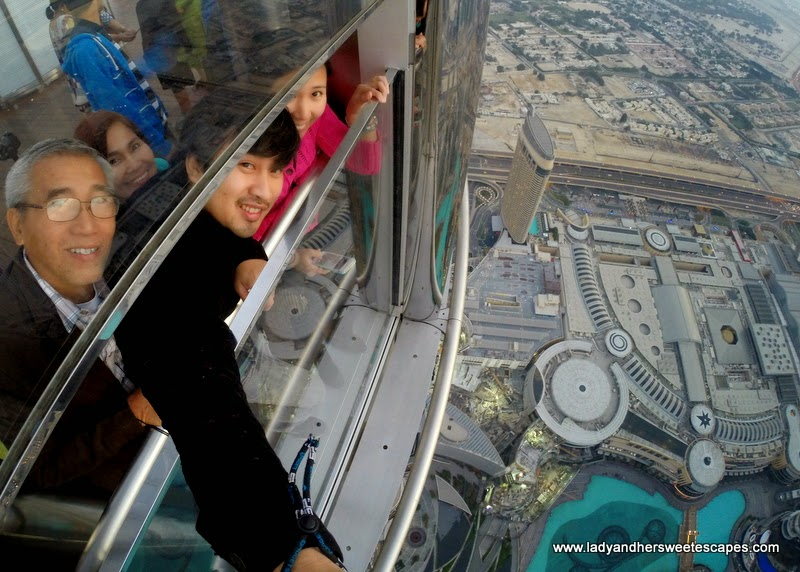 view from Burj Khalifa At The Top