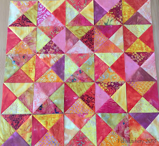 Broken Dishes Quilt Pattern Layout Batik Fabrics