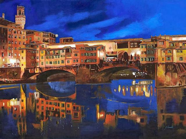 pintura-paisaje-en-la-noche