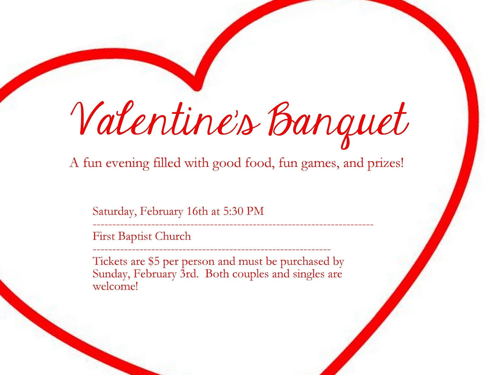Valentine party ideas for church - Valentine S Banquet