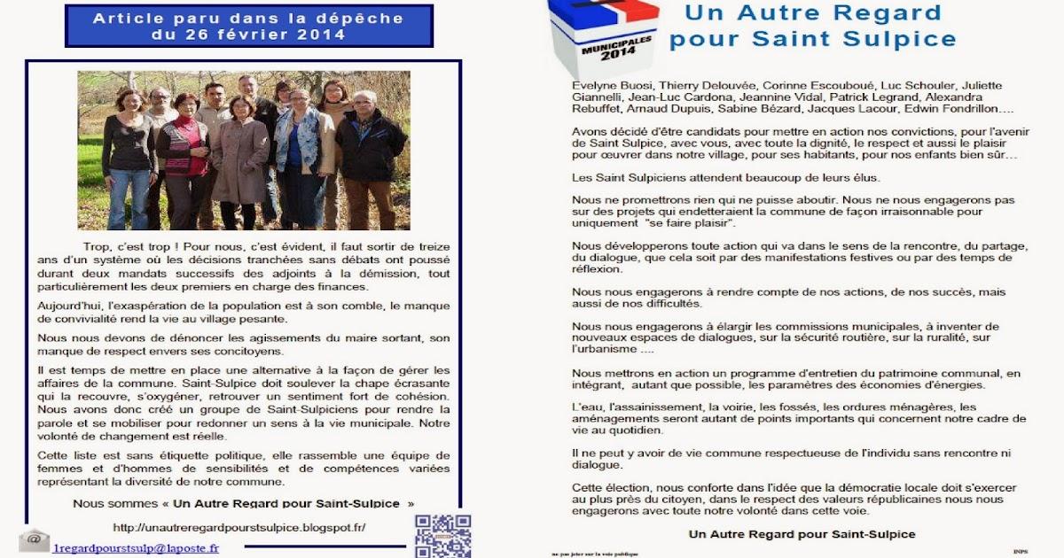 Un Autre Regard Pour Saint Sulpice  Presse    Tracts