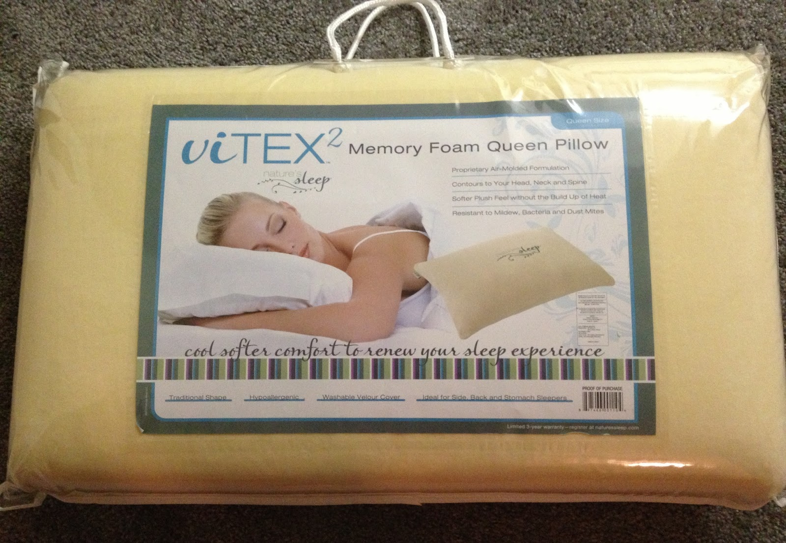Irish Italian Blessings: Nature's Sleep Memory Foam Vitex 2 Pillow Review & Slippers Giveaway