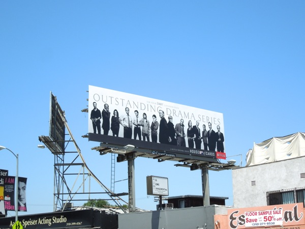 House of Cards Emmy 2013 billboard