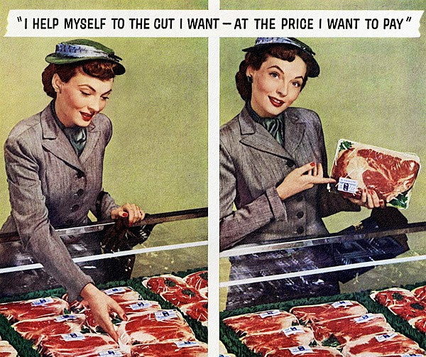retro meat housewife