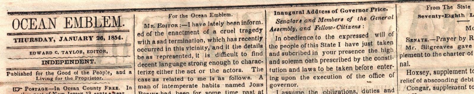 Ocean Emblem 26 Jan 1854