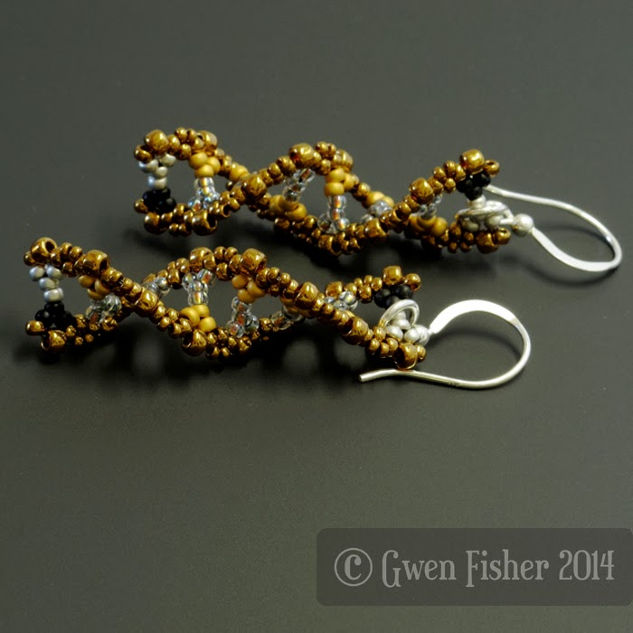 Beaded DNA Earrings