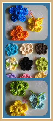 crochet flower, crochet butterfly