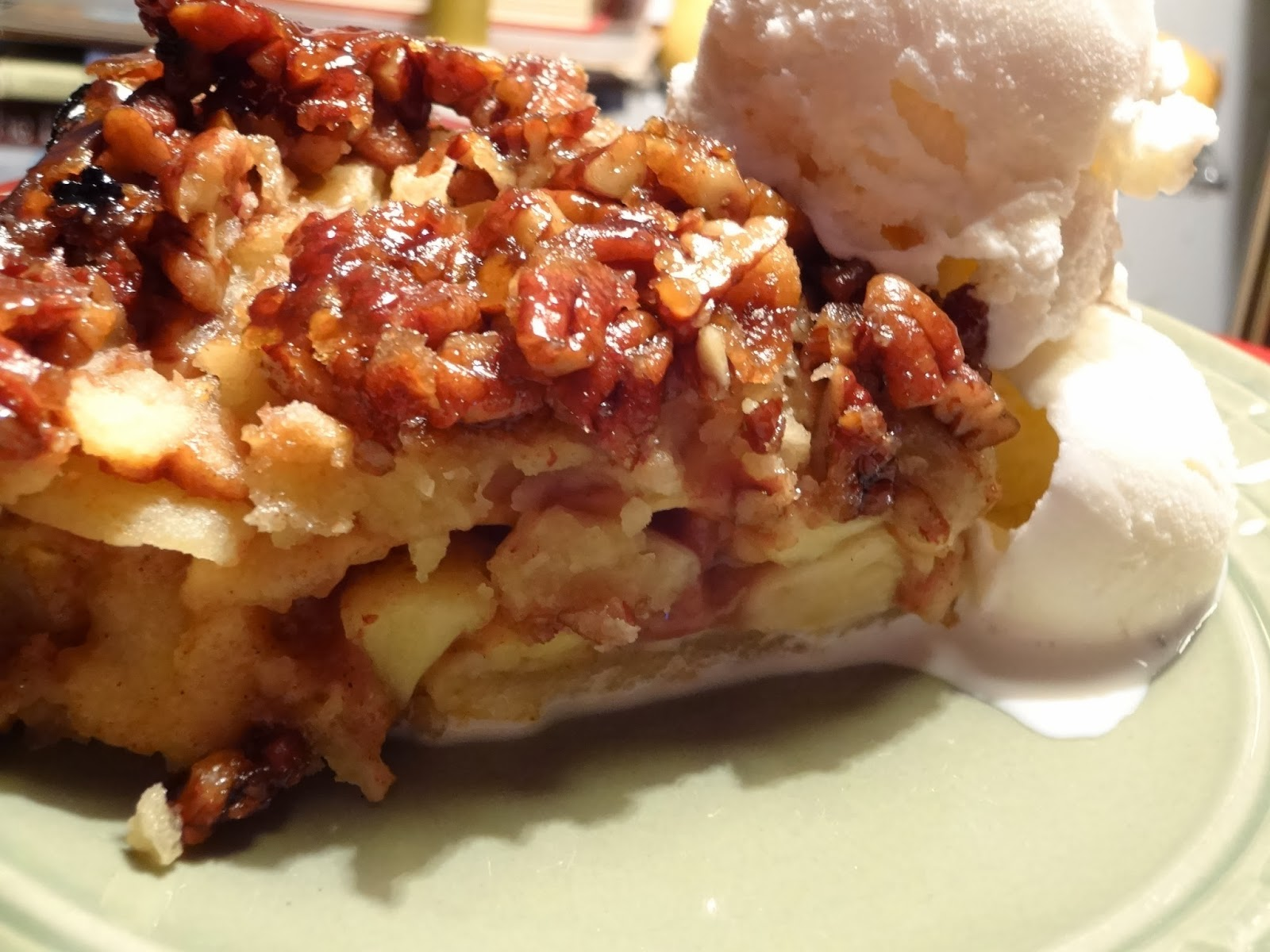 Sisters' Sweet and Tasty Temptations: Upside-Down Apple Pecan Pie