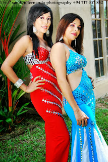 Shashi blue & Thilini red