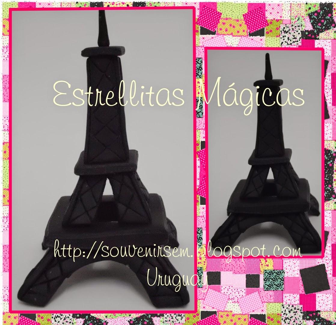 Torre Eiffel de porcelana fria, para torta de Barbie moda mágica en