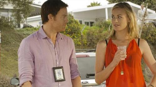 Dexter Morgan a jeho láska Hanna (Yvonne Strahovski)