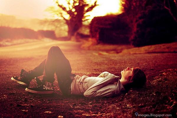 Cute, sad, boy, sunset, waiting, someone