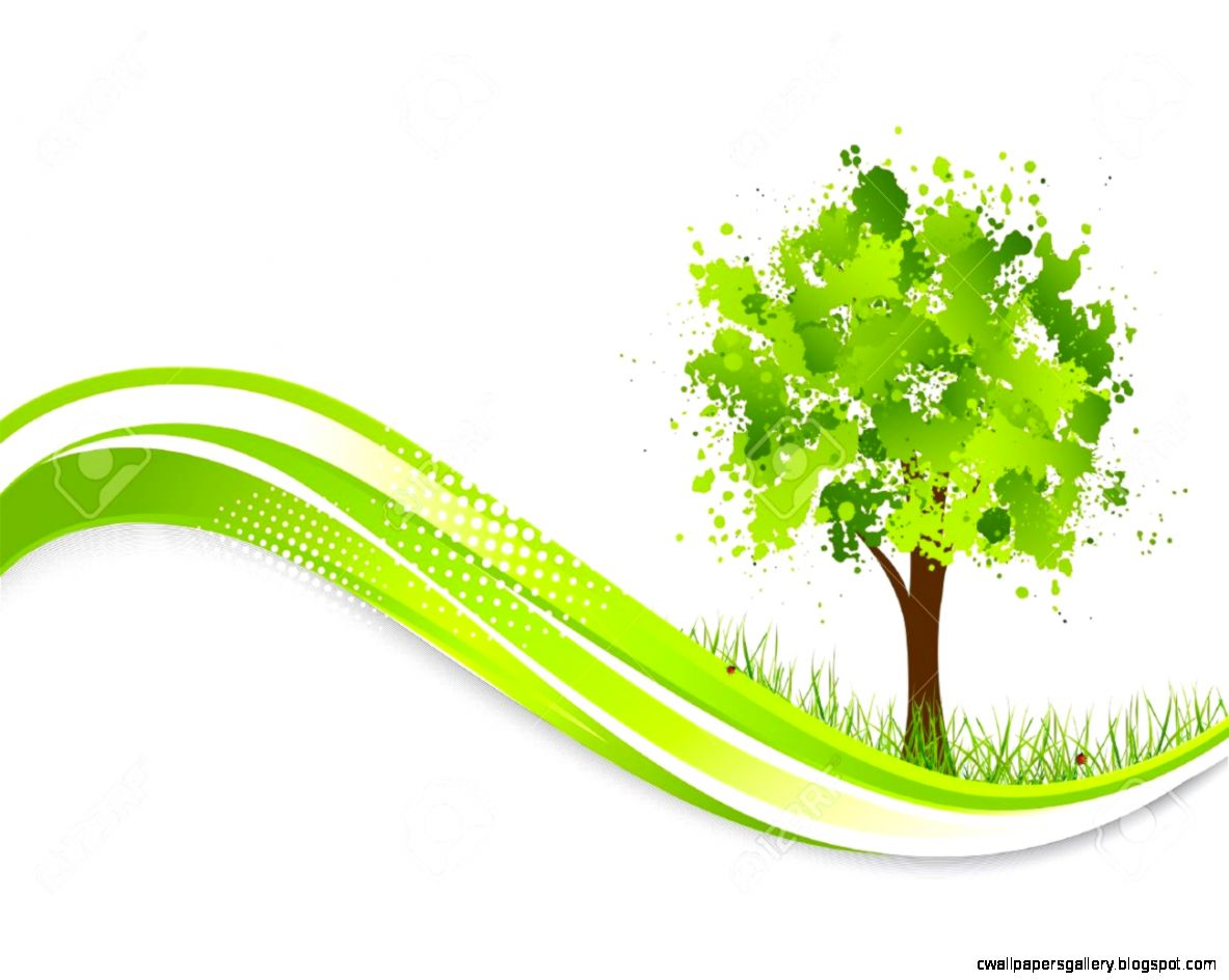 Background With Abstract Green Tree Spring Illustration Royalty
