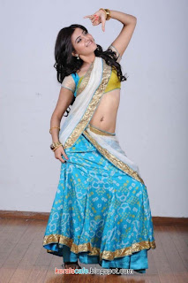 Samantha hot half saree stills