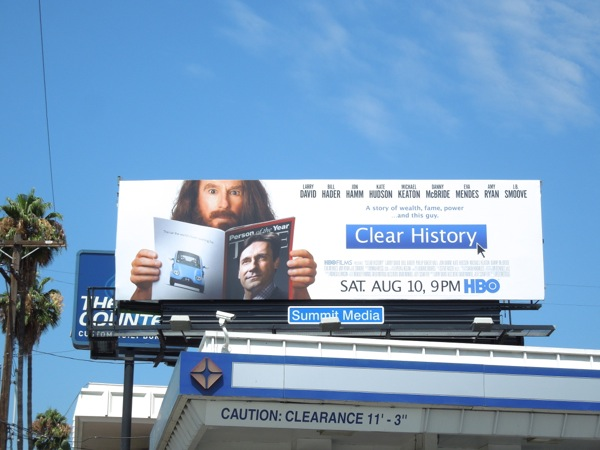 Clear History HBO Films billboard