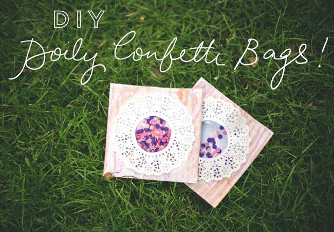 Des sachets à confettis by Quiero Una Boda Perfecta