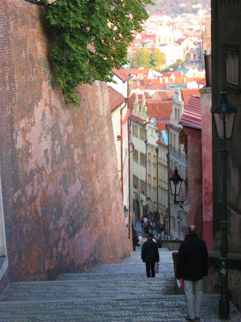 scalinata castello praga