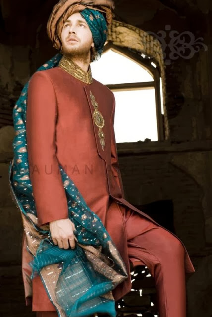 Latest Groom Wear Winter Collection 2013-2014 By Naushemian