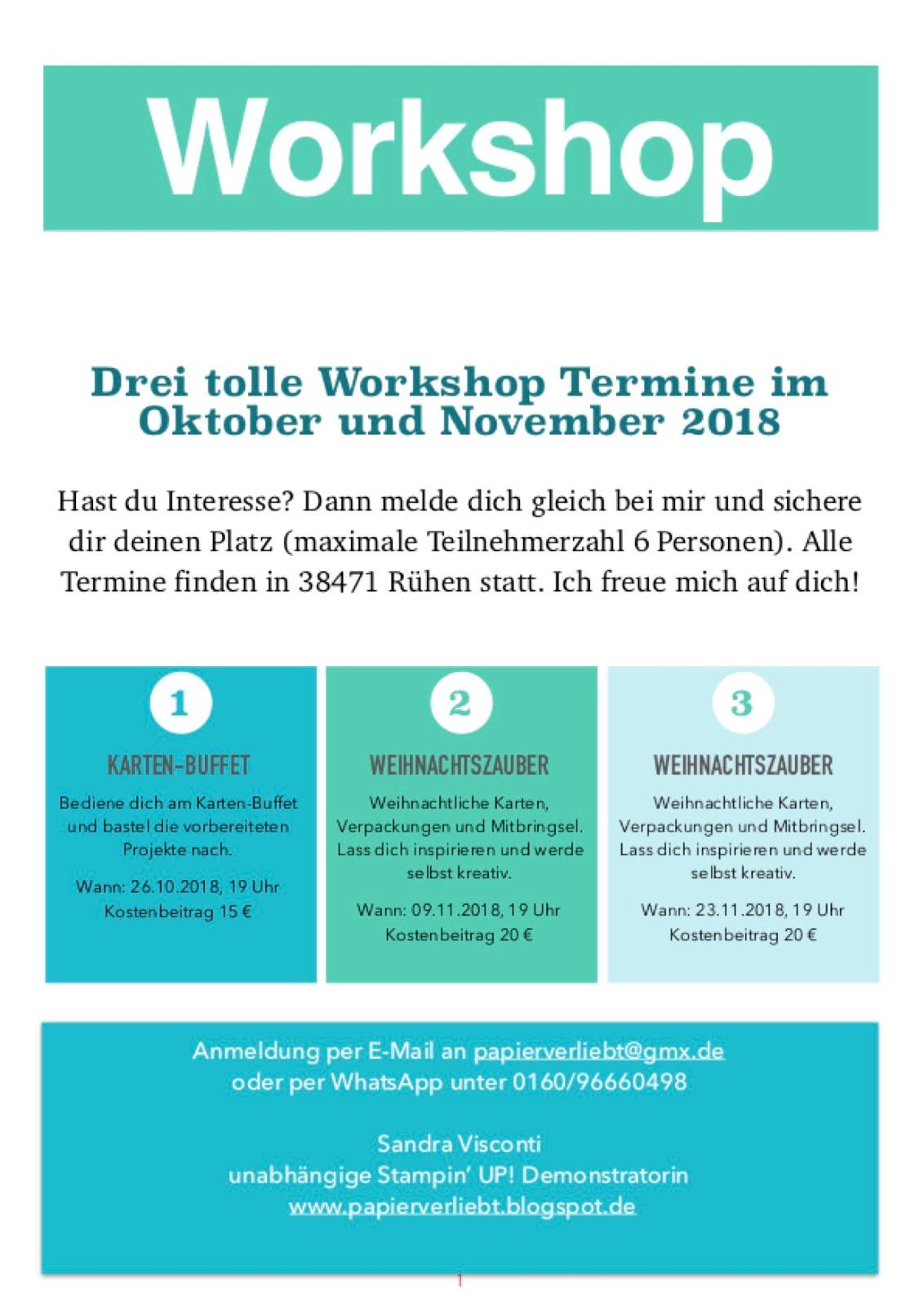 Workshop Termine