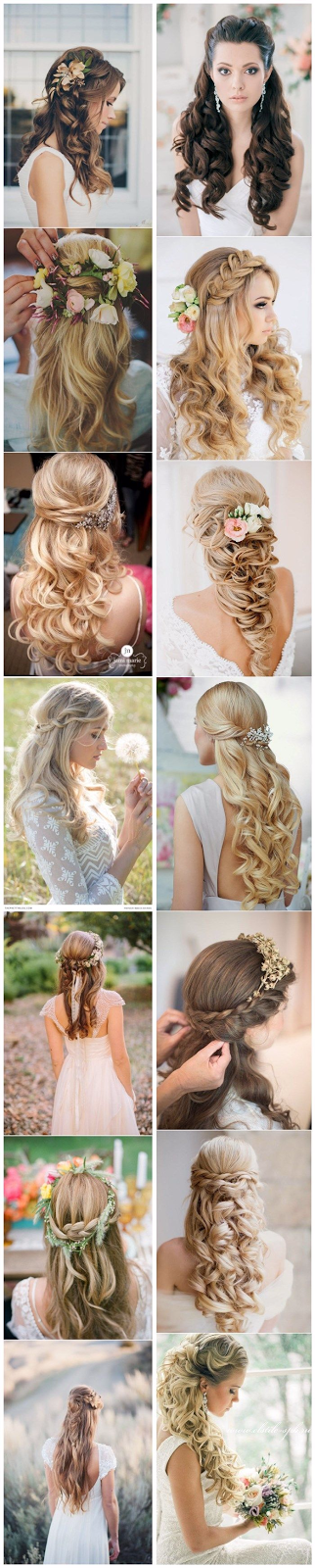 15 Stunning Half Up Half Down Wedding Hairstyles