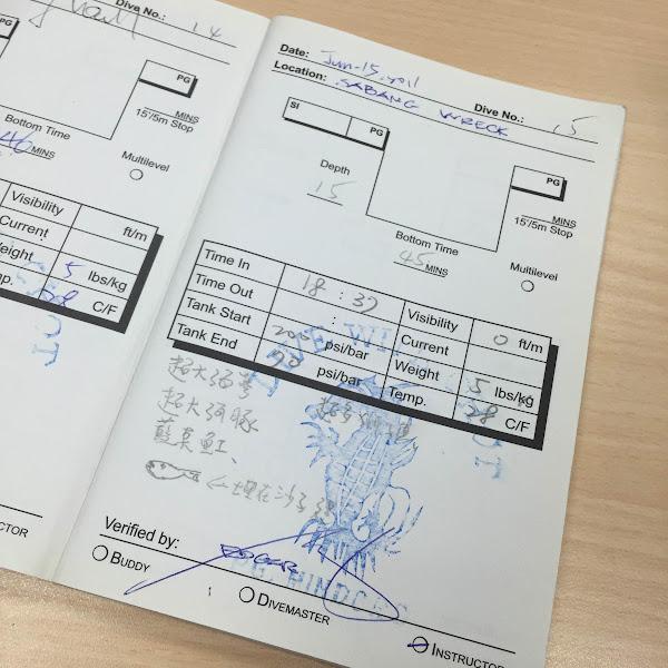 九星資訊共同創辦人陳鴻儒分享自己的潛水日誌