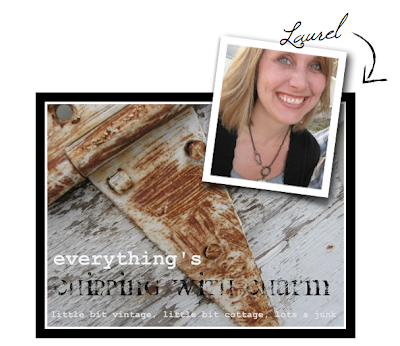 Laurel from Chipping with Charm featured on Funky Junk Interiors
