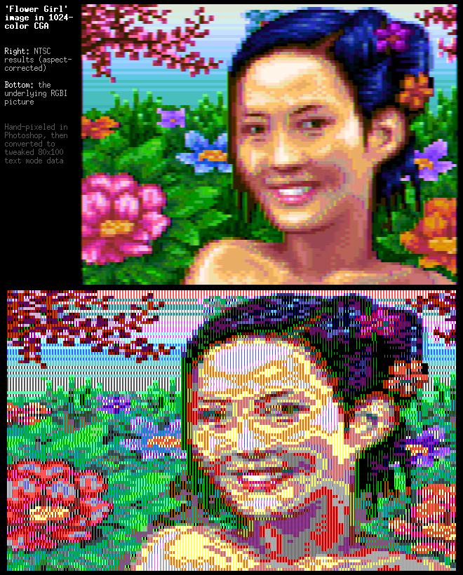 CGA flowergirl 1k colors