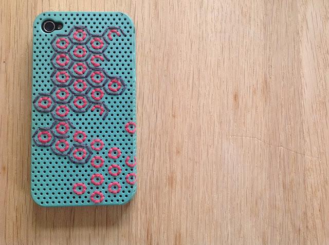Broderet beelike iphonecover